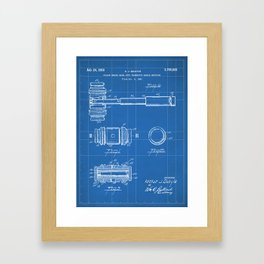 Judge Gavel Patent - Lawyer Art - Blueprint Framed Art Print