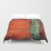 copper Duvet Covers featuring Copper by Paper Rescue Designs