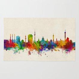 Hannover Germany Skyline Rug