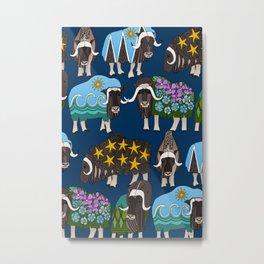 Alaskan musk ox blue Metal Print