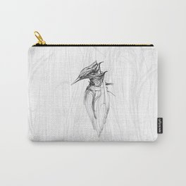 Kingfisher-1a. Black on white background-(Red eyes series) Carry-All Pouch