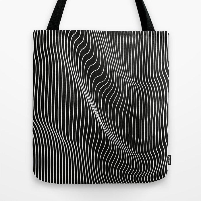 Minimal curves black Tote Bag