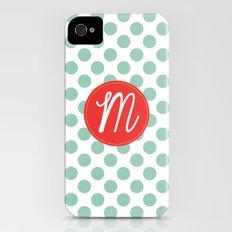Monogram Initial M Polka Dot Slim Case iPhone (4, 4s)