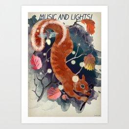 music and lights Art Print