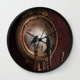 Brooke Figer - Reflection on Perception Wall Clock