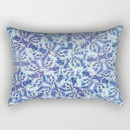 Spiral Snowflake Pattern Rectangular Pillow