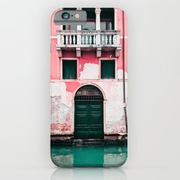 Pink Building in Venice Photography  iPhone Case