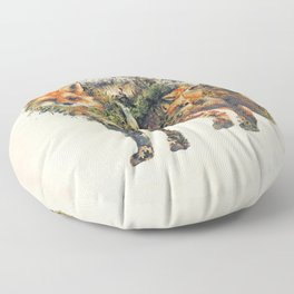 The Fox Nature Surrealism Floor Pillow