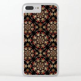 Turkish tulip - Ottoman tile pattern 15 Clear iPhone Case