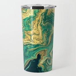 M A R B L E - emerald & brass Travel Mug