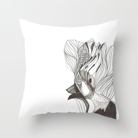EL hombre pájaro Throw Pillow