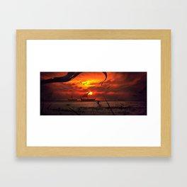 Beach Battlefront Framed Art Print