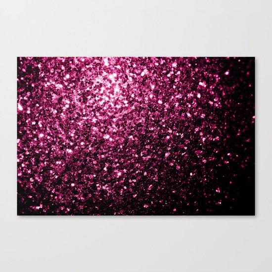 Beautiful Pink glitter sparkles Canvas Print