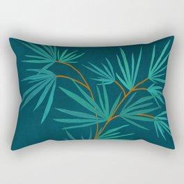 Night Palm / Night Scene Series Rectangular Pillow