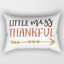 Little Miss Thankful Rectangular Pillow