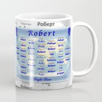 robert farkas Mugs featuring Robert by JMcCombie