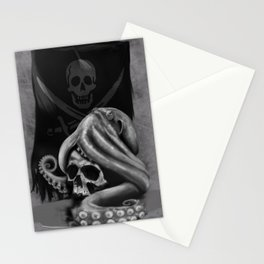 Pirate Tentacle Stationery Cards