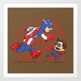 Let's be heroes Art Print