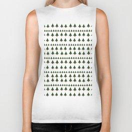 Ugly Sweater Christmas Trees - Pixel Art Biker Tank