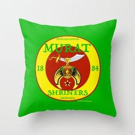 Murat Shriners, 1884, Yellow & Red Throw Pillow