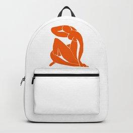 Orange Nude Girl Backpack