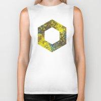 hexagon Biker Tanks featuring Hexagon by Daniel DeVinney
