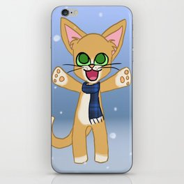 Happy Cat Winter style iPhone Skin