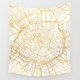 PARIS FRANCE CITY STREET MAP ART Wall Tapestry