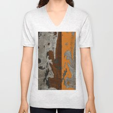Abstract textured art work Unisex V-Neck