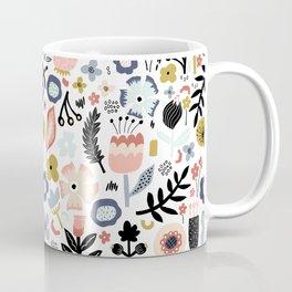 Naive Floral Scandinavian Design Coffee Mug