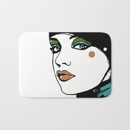 Green Eyeshadow  Bath Mat