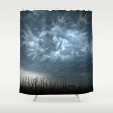 Fantasma Mano Storm Clouds Shower Curtain