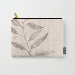 Monochrome blush botanical Carry-All Pouch