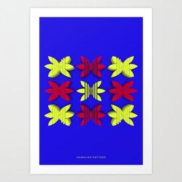 Symmetry: Hawaiian Pattern Art Print
