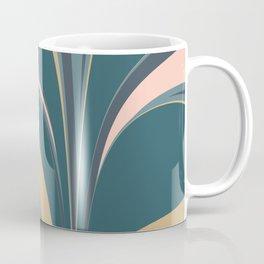 Teal Leaves Coffee Mug