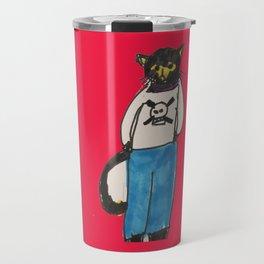 Goth Kitty  Travel Mug