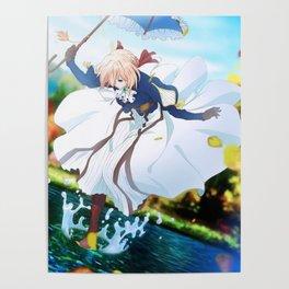 Floating Violet Poster