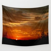 breaking Wall Tapestries featuring Morning Breaking by JMcCool