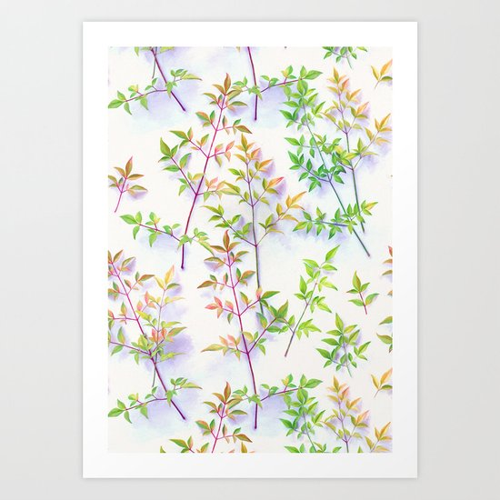 Leaves in the Light Art Print