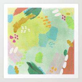 Bright Paints + Gold Art Print