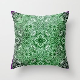 Psychedelic - Green Throw Pillow