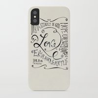 scripture iPhone & iPod Cases featuring Love Extravagantly scripture print by Kristen Ramsey
