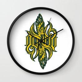 Angel 3K ambigram Wall Clock