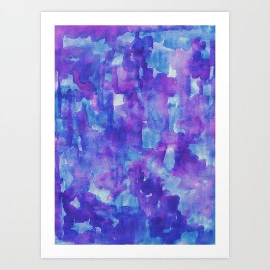 Blue & Purple Art Print