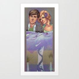 Shades between Art Print