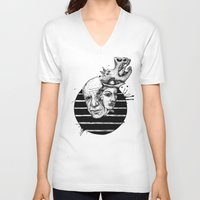 picasso V-neck T-shirts featuring Picasso by Benson Koo