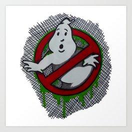 Ghostly Ectoplasm Art Print