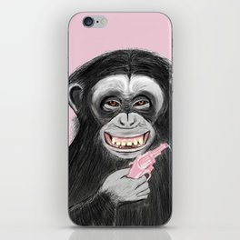 monkey with watergun L iPhone Skin