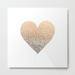 GOLD HEART Metal Print