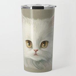 My White Cat's Face Travel Mug